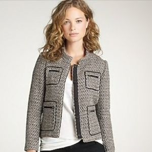 J.Crew Gilded Tweed Button Down Blazer Jacket Wool